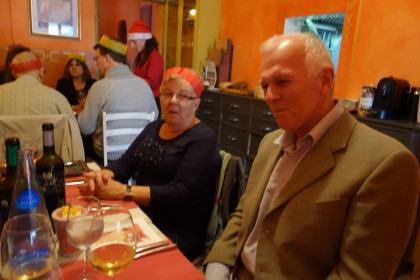 Celebrating Christmas Dinner at Restaurant A ma Maison Palma de Mallorca 2014